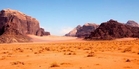 Rocas en Wadi Rum, en Jordania.