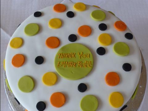 Dulce, tarta de agradecimiento