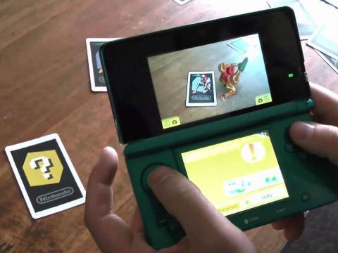 Realidad aumentada con una consola portátil de Nintendo.