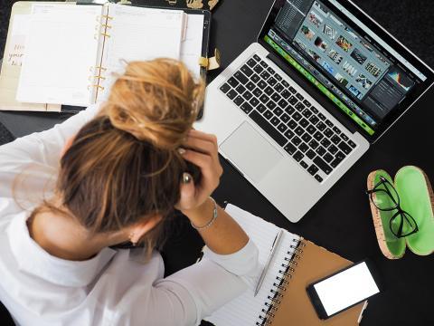 Trabajando con un ordenador portátil