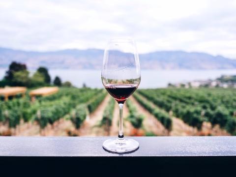 Vaso de vino tinto