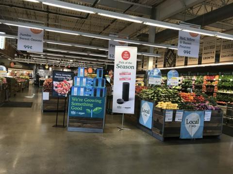 Fotografía del interior de uno de los establecimientos de Whole Foods, la cadena de supermercados propiedad de Amazon.