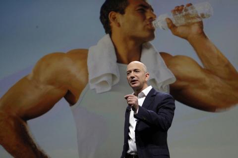 El CEO de Amazon, Jeff Bezos, durante una presentación.