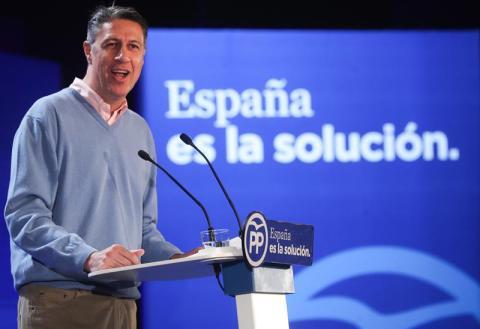 Xavier García Albiol, candidato del PP, en la campaña electoral del 21D en Cataluña