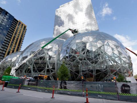 El campus de Amazon en el centro de Seattle (EE. UU.).