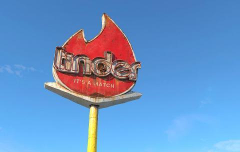 Logo de Tinder según el artista Andrei Lacatusu