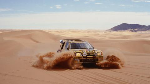 Ari Vatanen en el Dakar de 1987