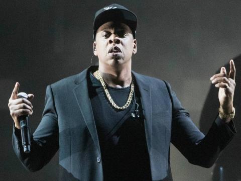El rapero Jay-Z en un concierto