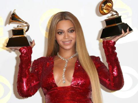 Beyoncé en los premios Grammy