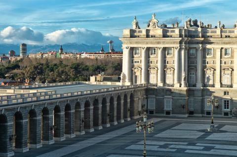 El Palacio Real en Madrid (España)