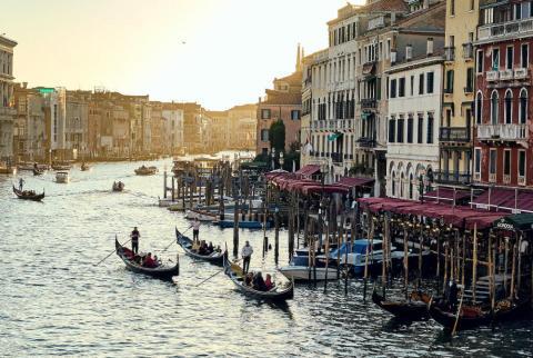 El Gran Canal en Venecia (Italia).