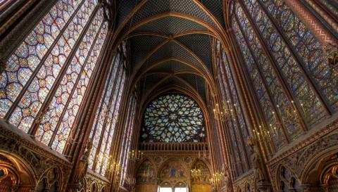 Sainte-Chapelle en París (Francia)