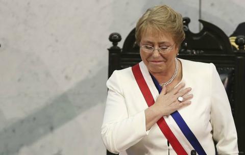 La presidente de Chile, Michelle Bachelet