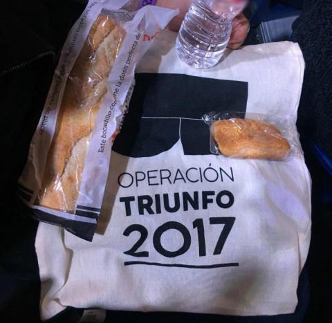 El avituallamiento de la gala de Eurovisión de OT 2017.