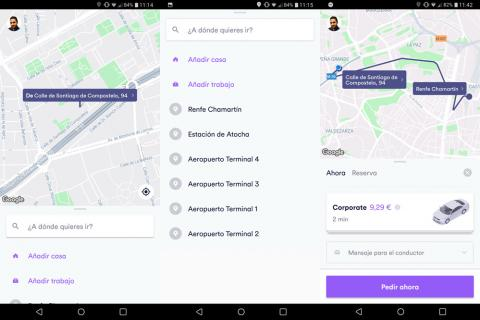 Cabify interfaz app