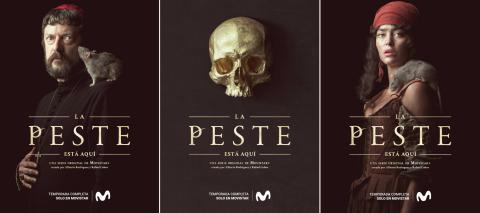 Carteles promocionales de la serie 'La Peste', de Movistar +.