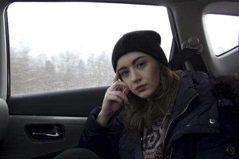 Chica en el coche