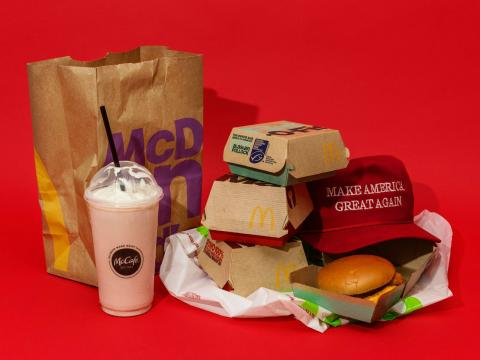 comida basura mcdonalds trump make america great again
