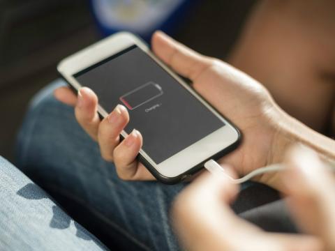 Teléfono con poca batería