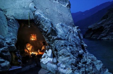 Nacimiento del Ganges, en el Himalaya