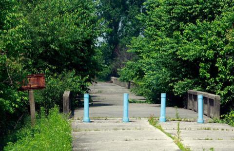 Puente de no retorno en la zona desmilitarizada