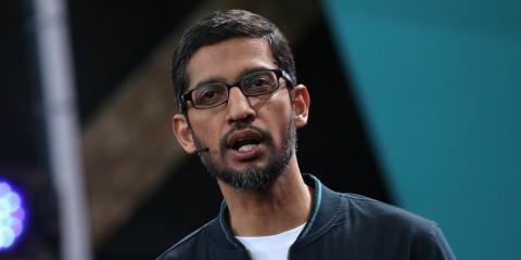 El director ejecutivo de Google, Sundar Pichai.