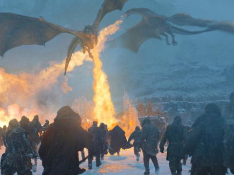 Dragones en la serie de HBO 'Juego de Tronos'