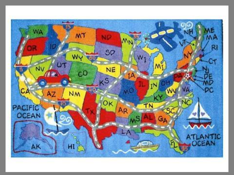 Mapa de Estados Unidos elaborado por niños