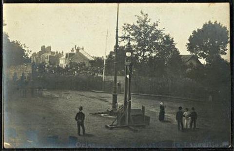 Ejecución con guillotina de Henri Languille en 1905.