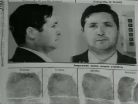 "Ficha policial de Salvatore ""Totò"" Riina."