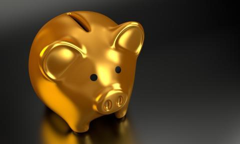 Hucha de ahorro de dinero