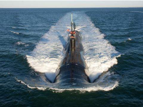 Imagen de un submarino de combate.