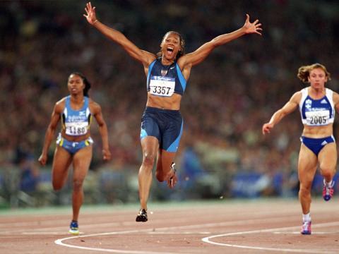 [RE] juegos olímpicos: Marion Johnes