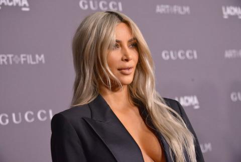 Kim Kardashian en una fiesta en Los Angeles el 4 de noviembre de 2017
