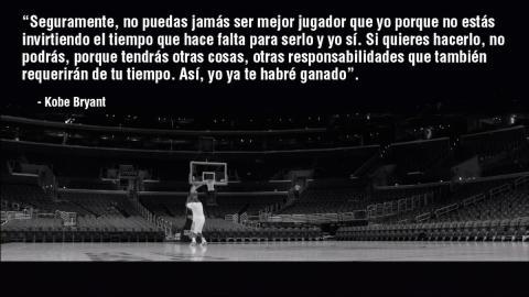 Kobe bryant reflexion sobre ser el mejor