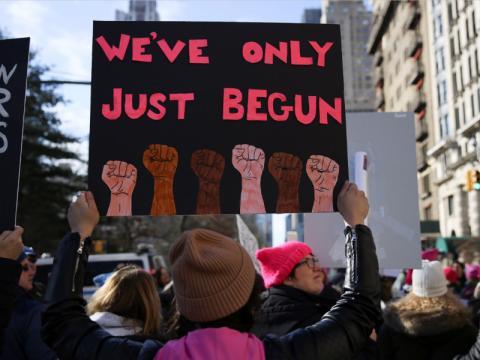 El movimiento acaba de empezar, proclama una pancarta.