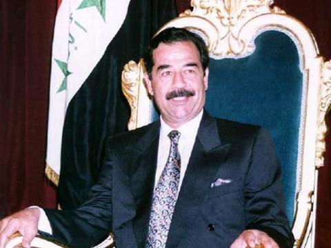 Una imagen de archivo de Saddam Hussein cuando aún ostentaba el poder en Irak
