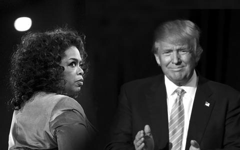 Oprah Winfrey y Donald Trump