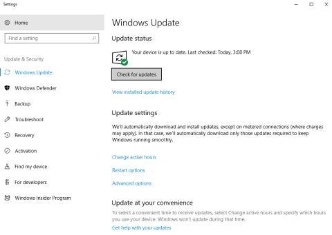 Pantallazo actualización Windows