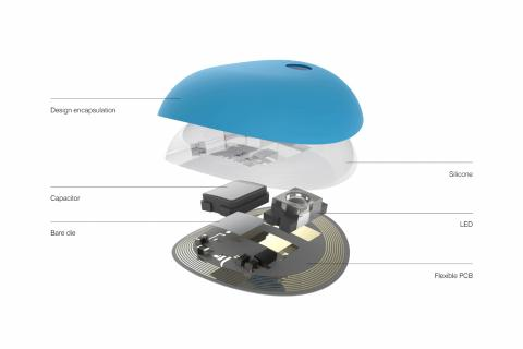 El parche UV Sense creado por La Roche Posay - L'Oréal para mejorar la protección solar.