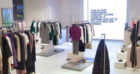 La pop-up store de Zara para compras online.