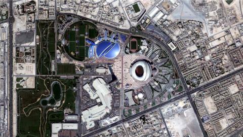 Qatar 2022 estadios parados por bloqueo 10