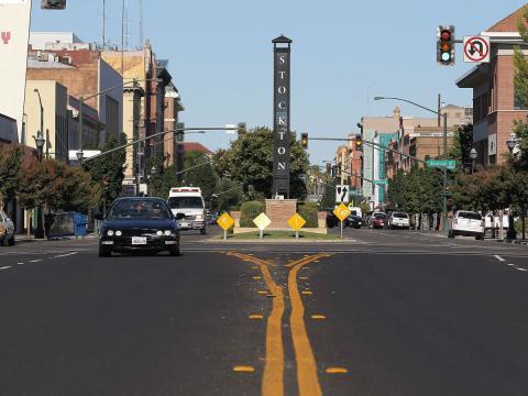 Una imagen de Stockton, en el estado de California (EE. UU.)