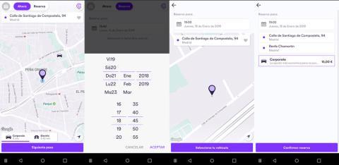 Reserva Cabify app antigua