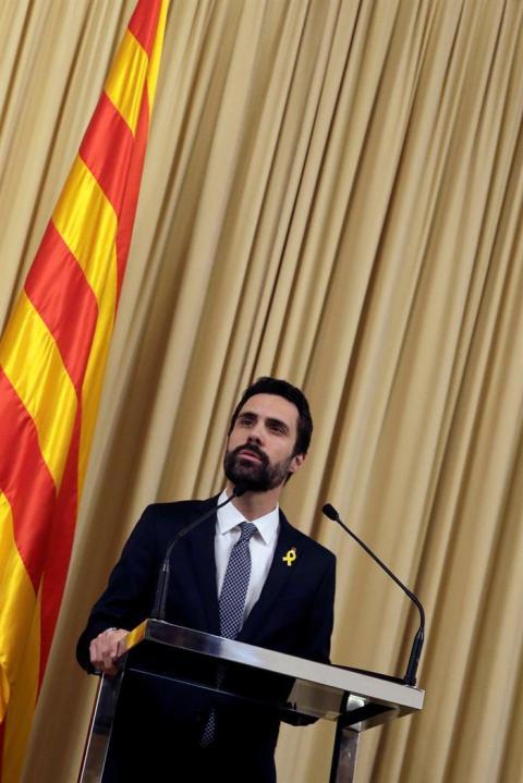 Roger Torrent anuncia la candidatura de Carles Puigdemont a la presidencia de la Generalitat