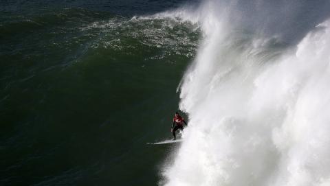 El local Francisco Porcela no tuvo suerte con las olas