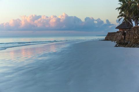 Una playa en Mombasa (Kenia)