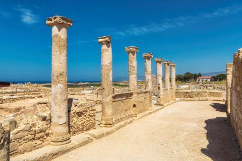 Ruinas en Paphos (Chipre)