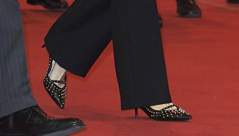 Zapatos de Letizia en Fitur 2018.