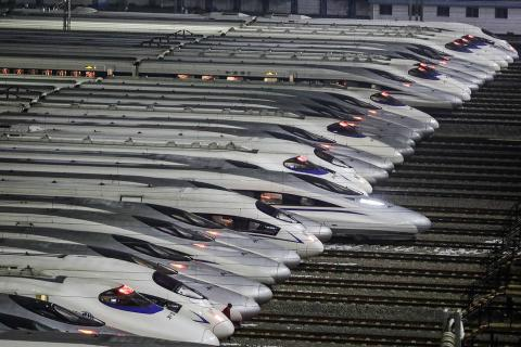 Los trenes bala son uno de los transportes predilectos para desplazarse por el Año Nuevo Chino.